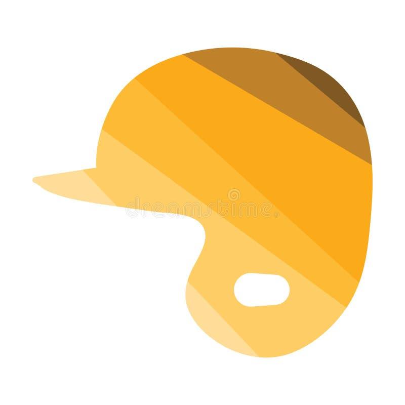 Ícone do capacete do basebol ilustração royalty free