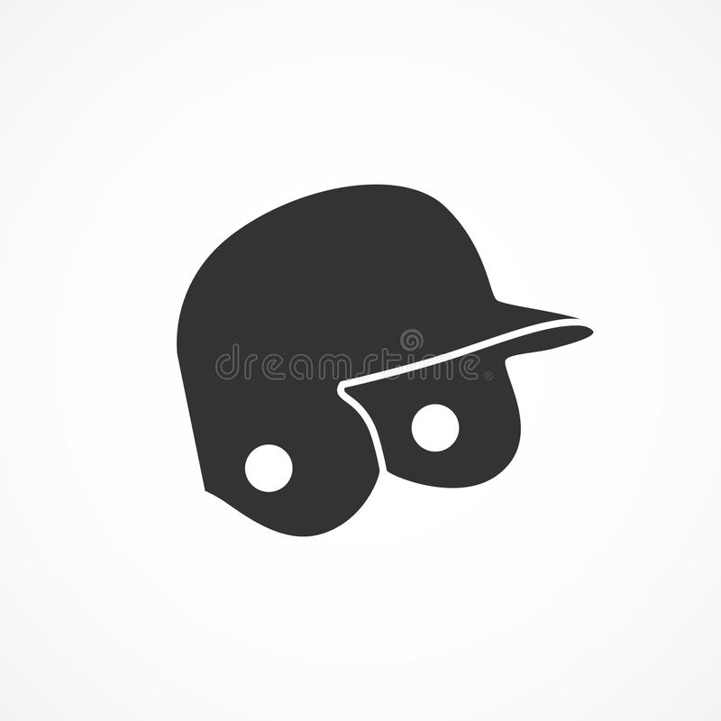 Ícone do capacete do basebol da imagem do vetor ilustração royalty free