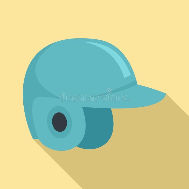Ícone do capacete do basebol, estilo liso ilustração royalty free