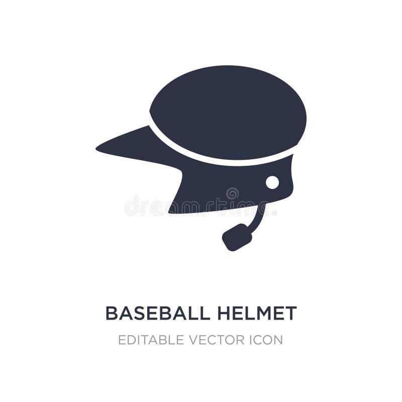 ícone do capacete do basebol no fundo branco Ilustração simples do elemento do conceito dos esportes ilustração do vetor