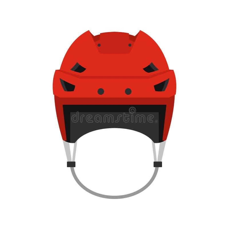 Ícone do capacete do hóquei, estilo liso ilustração royalty free