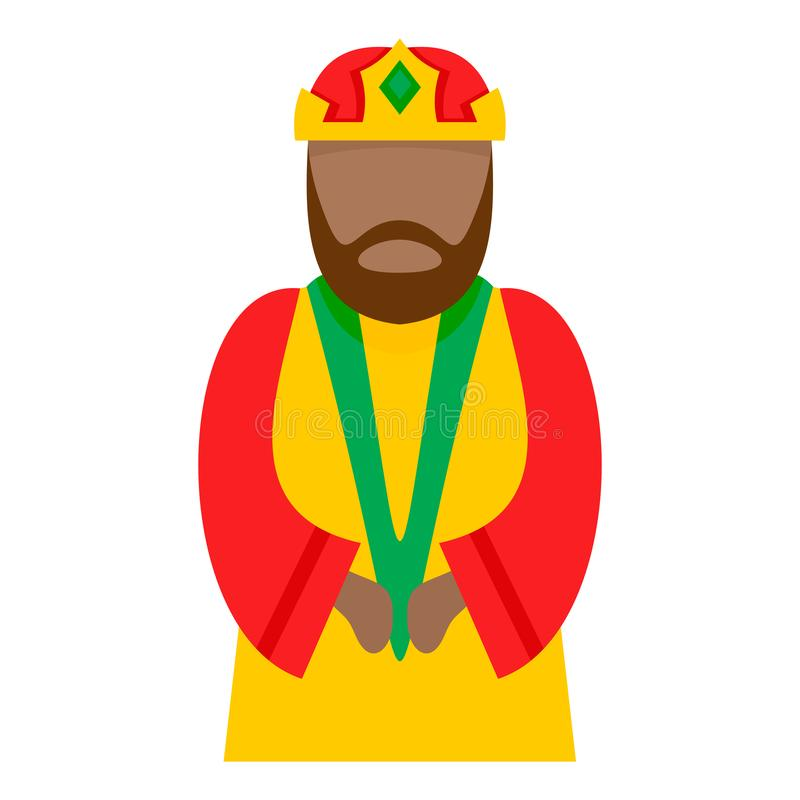 Ícone do caráter do esmagamento, estilo liso ilustração stock