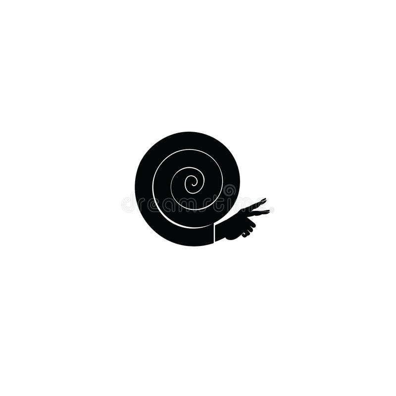 Ícone do caracol, gráfico, símbolo, logotipo, vetor ilustração stock