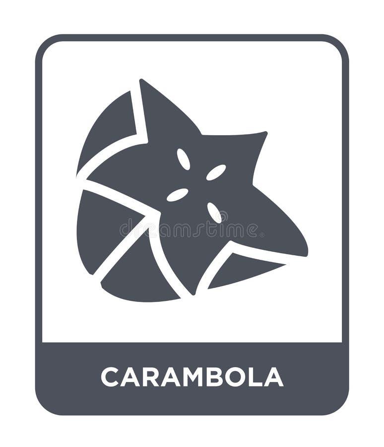 ícone do carambola no estilo na moda do projeto ícone do carambola isolado no fundo branco plano simples e moderno do ícone do ve ilustração stock