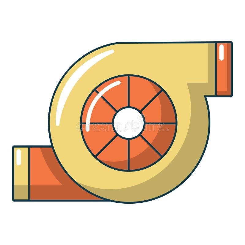 Motor De Turbo Dos Desenhos Animados Do Vetor Ilustracao Do Vetor