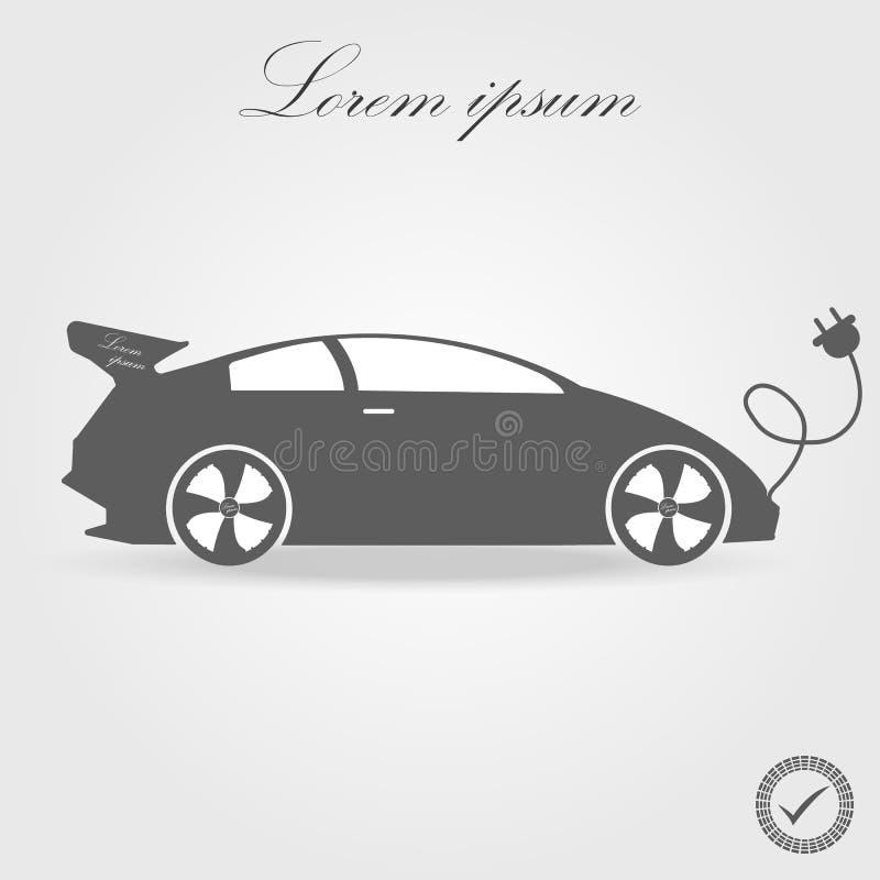 Ícone do carro bonde liso Pictograma preto no fundo branco Botão do símbolo e do bônus da ilustração do vetor ilustração stock