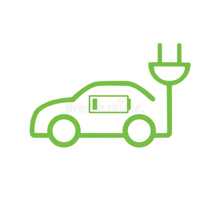 Ícone do carro da carga elétrica ilustração royalty free