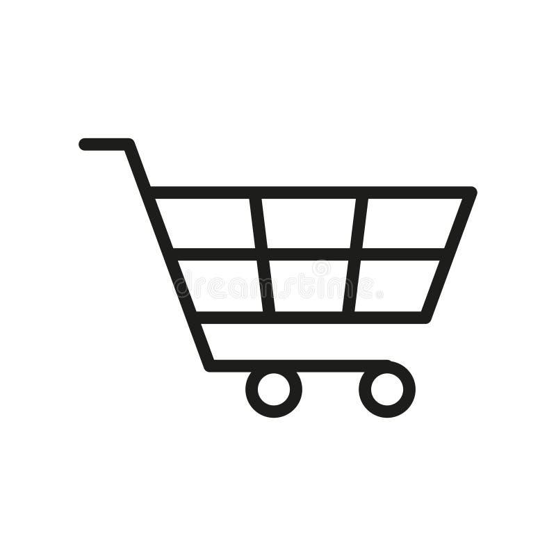 Ícone do carro de compra ilustração stock