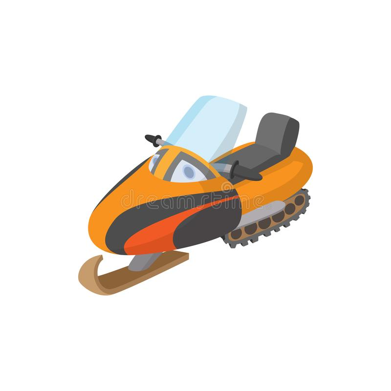 Ícone do carro de neve, estilo dos desenhos animados ilustração do vetor