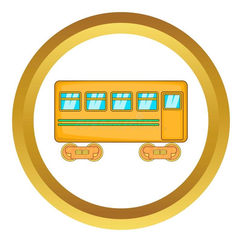 Ícone do carro de trilho ilustração royalty free