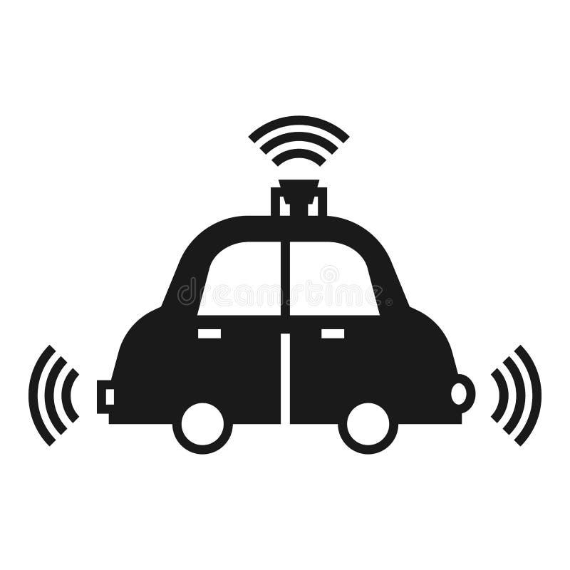 Ícone do carro do piloto automático, estilo simples ilustração royalty free