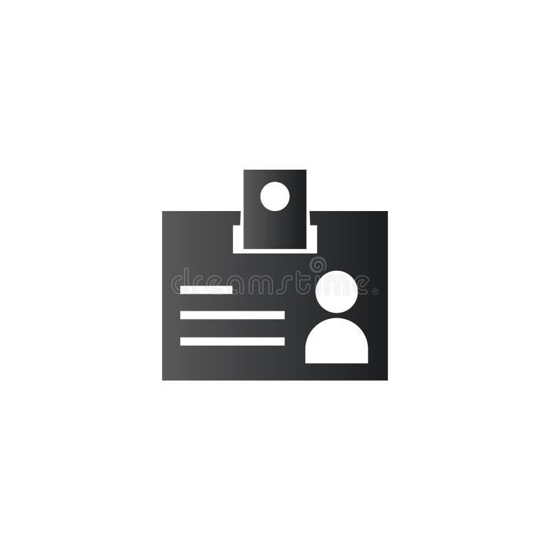 Ícone do cartão da identificação, etiqueta do nome Ilustra??o do vetor isolada no fundo branco ilustração stock