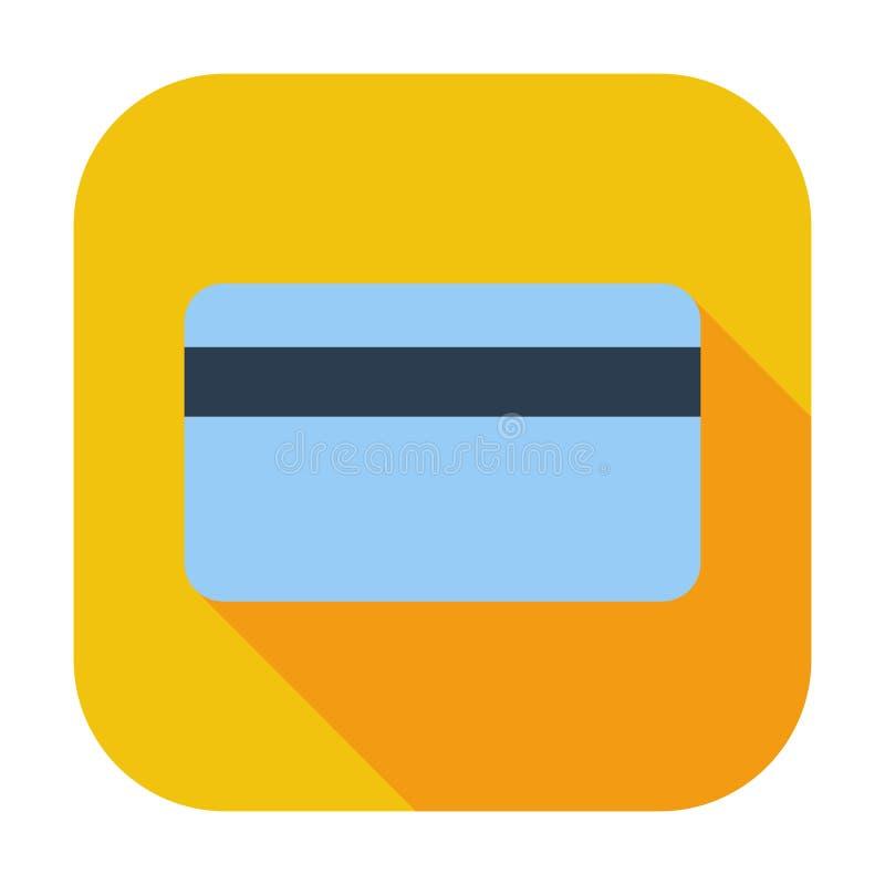 Ícone do cartão de crédito único ilustração stock