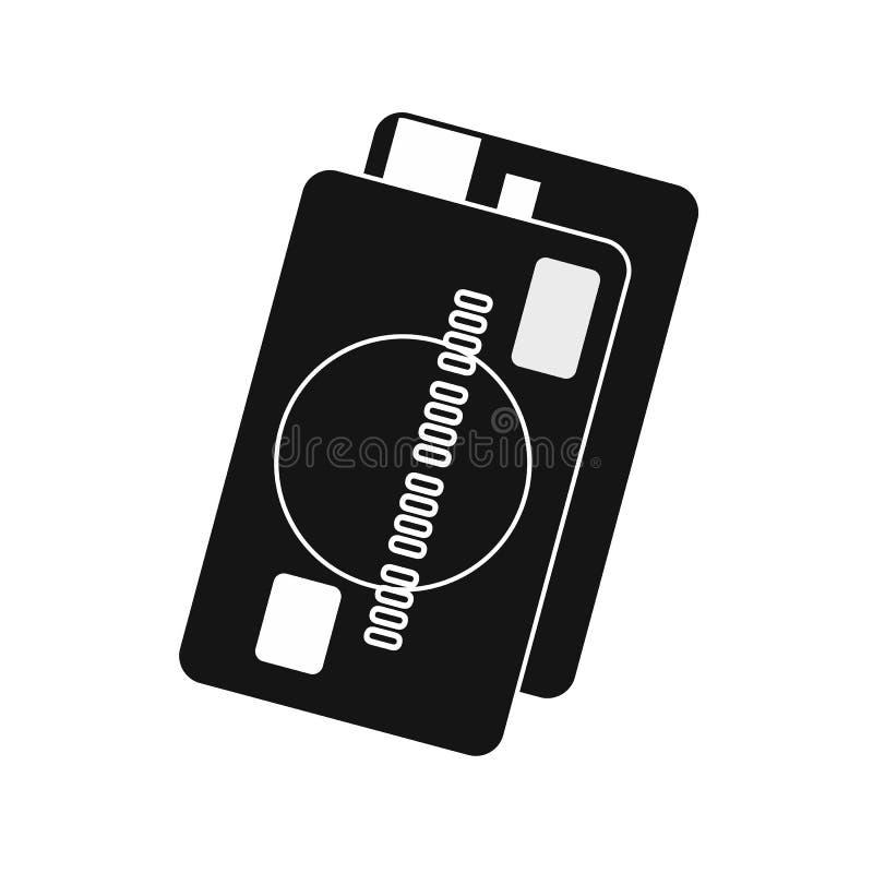Ícone do cartão de crédito, estilo simples ilustração do vetor