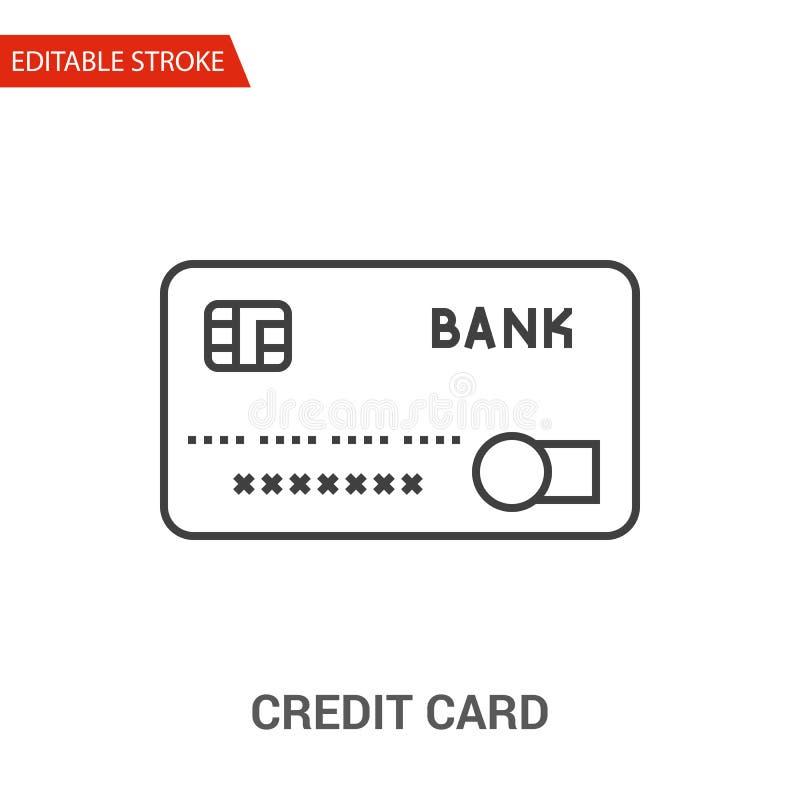 Ícone do cartão de crédito Linha fina ilustração do vetor ilustração royalty free
