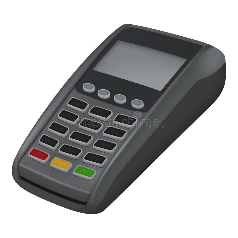 Ícone do cartão de crédito do pagamento, estilo realístico ilustração stock