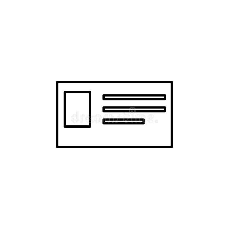 ícone do cartão de estudante Elemento do ícone da Web para o conceito móvel e nós ilustração do vetor
