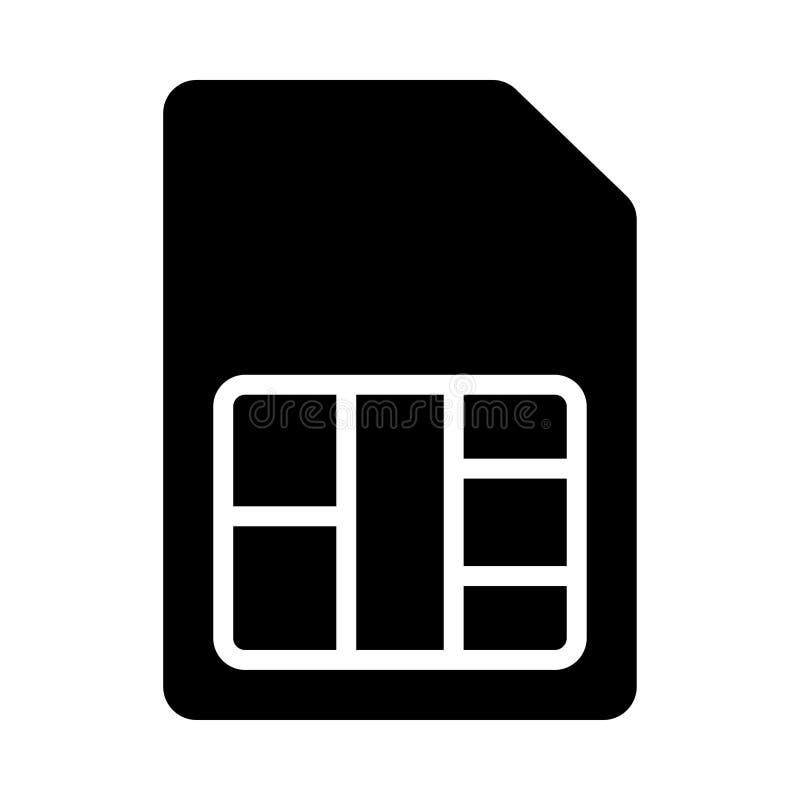 Ícone do cartão de Sim ilustração do vetor