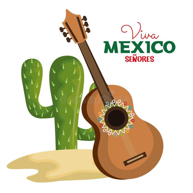 Ícone do cartaz de Viva México ilustração royalty free
