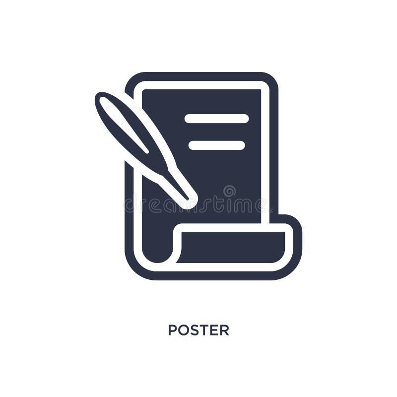 ícone do cartaz no fundo branco Ilustração simples do elemento do conceito da história ilustração royalty free