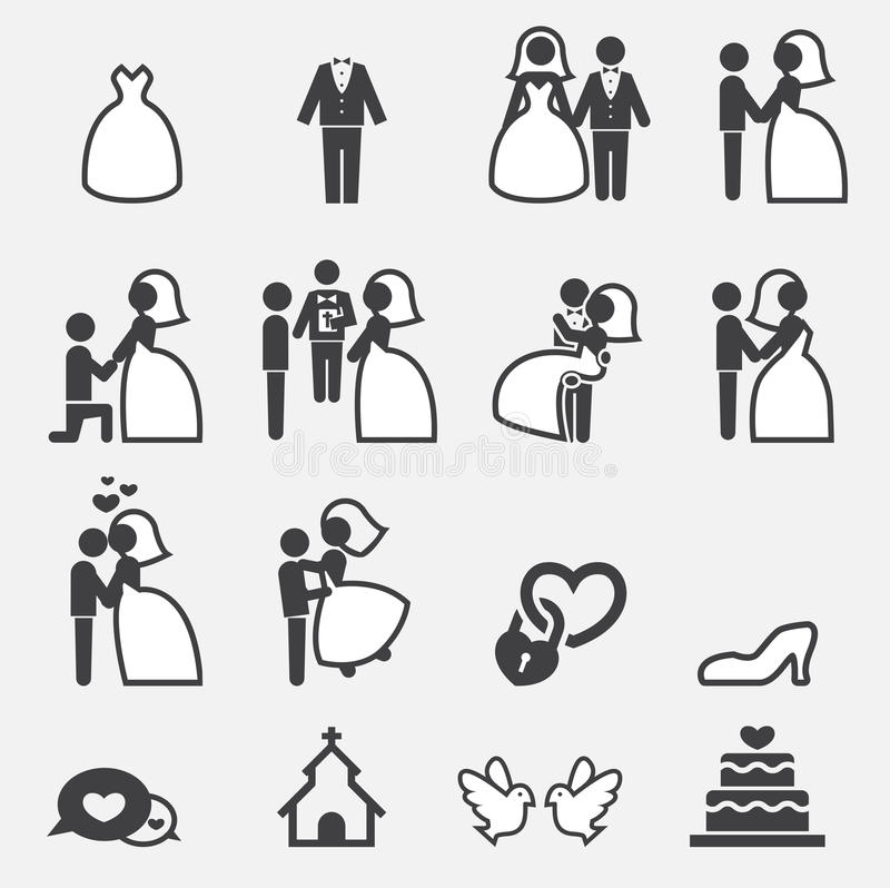 Ícone do casamento ilustração royalty free