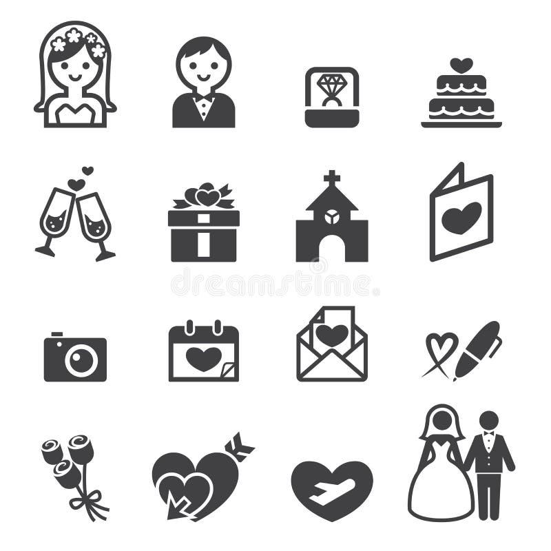 Ícone do casamento ilustração stock