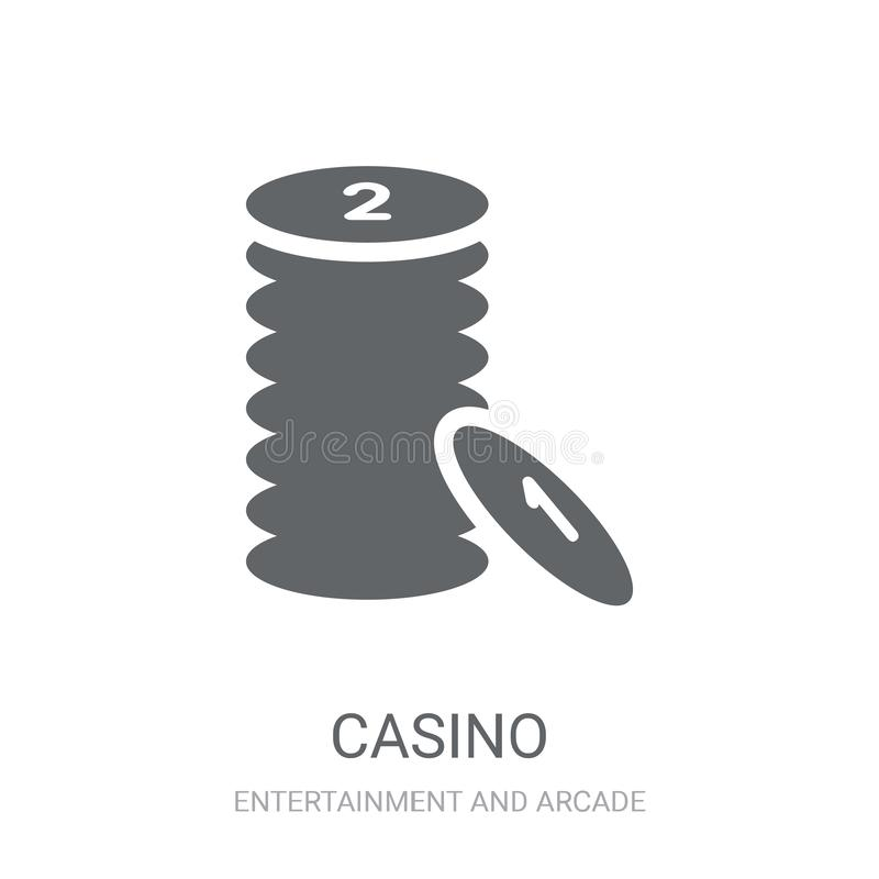 Ícone do casino  ilustração royalty free