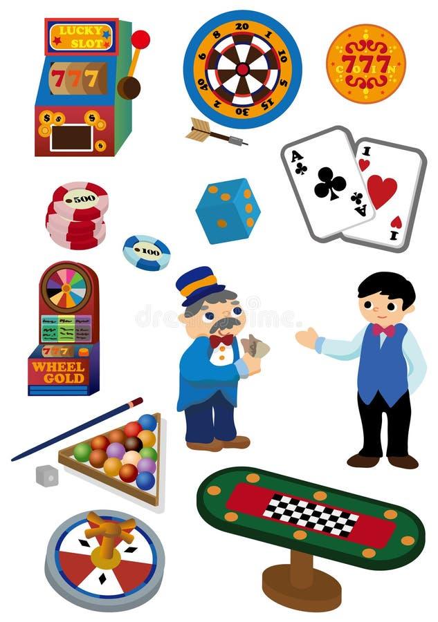 Ícone do casino dos desenhos animados ilustração stock