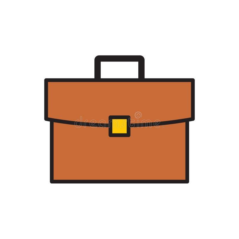 Ícone do caso do negócio no fundo branco para o gráfico e o design web, sinal simples moderno do vetor Conceito do Internet Símbo ilustração stock