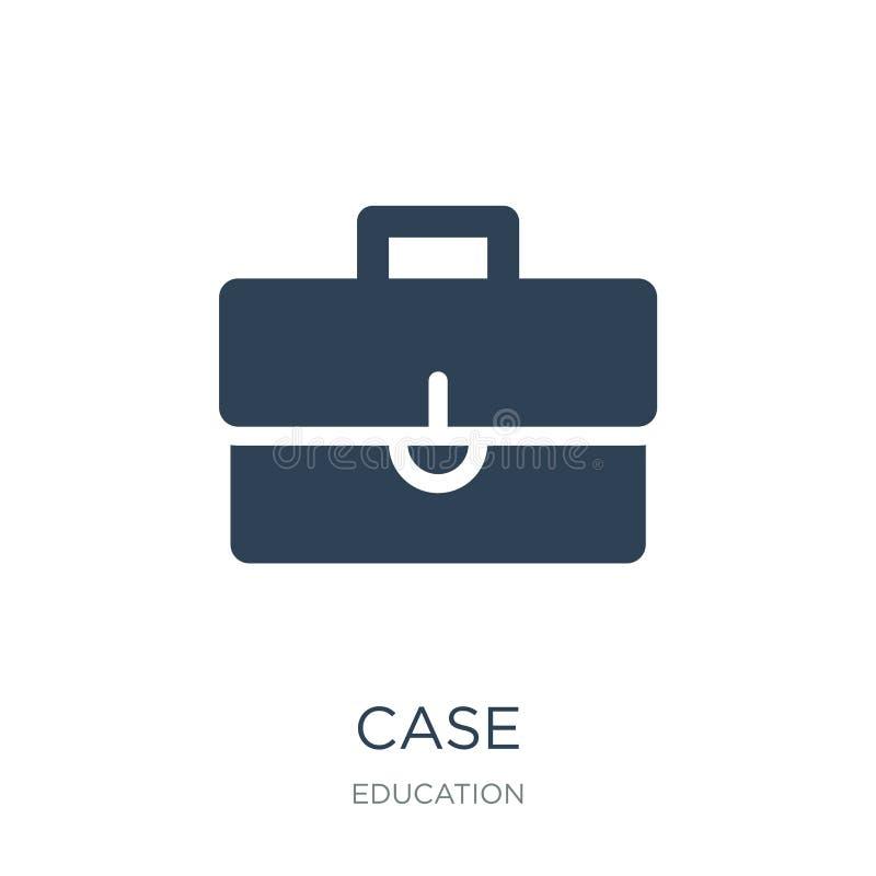 ícone do caso no estilo na moda do projeto ícone do caso isolado no fundo branco símbolo liso simples e moderno do ícone do vetor ilustração do vetor