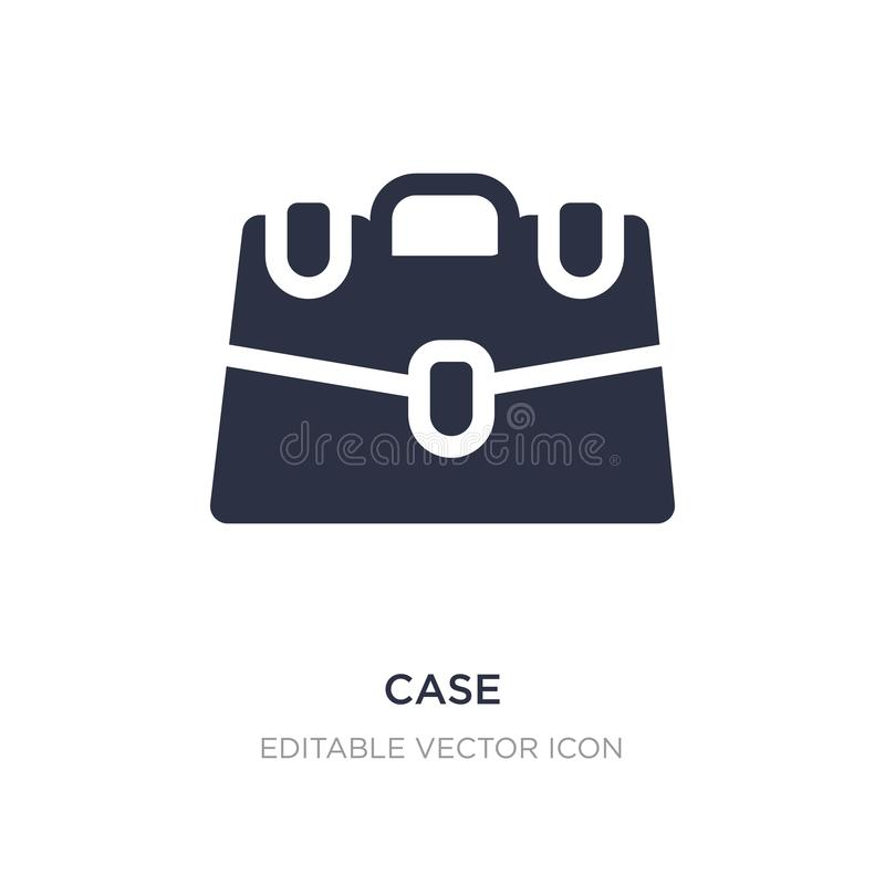 ícone do caso no fundo branco Ilustração simples do elemento do conceito da educação ilustração stock