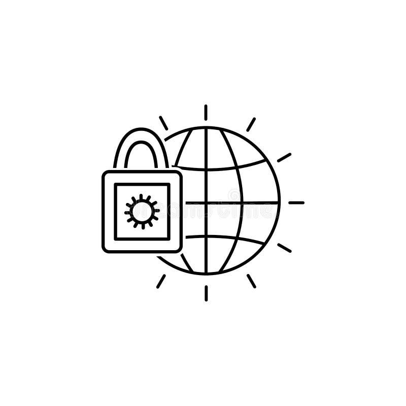 Ícone do castelo do globo Elemento do ícone popular da finança Projeto gráfico da qualidade superior Sinais, ícone da coleção dos foto de stock royalty free