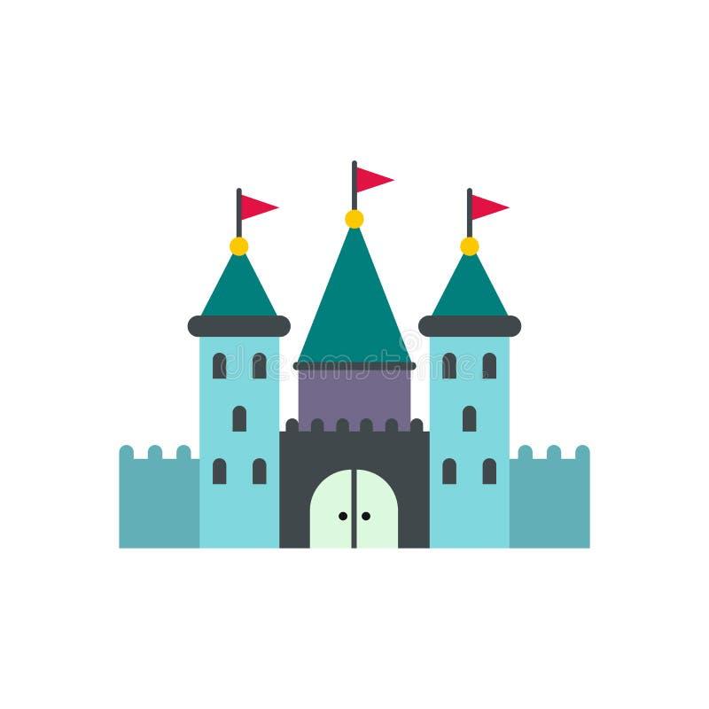 Ícone do castelo liso ilustração do vetor