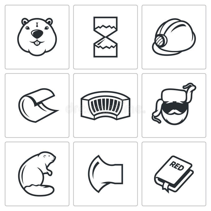 Ícone do castor ilustração stock