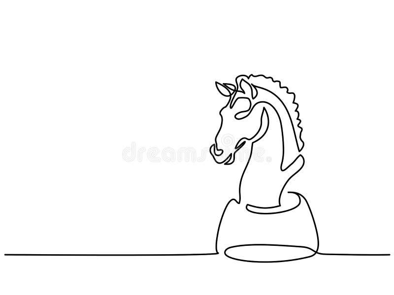 Ícone do cavaleiro da xadrez ilustração royalty free