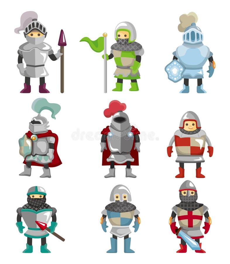 Ícone do cavaleiro dos desenhos animados ilustração royalty free