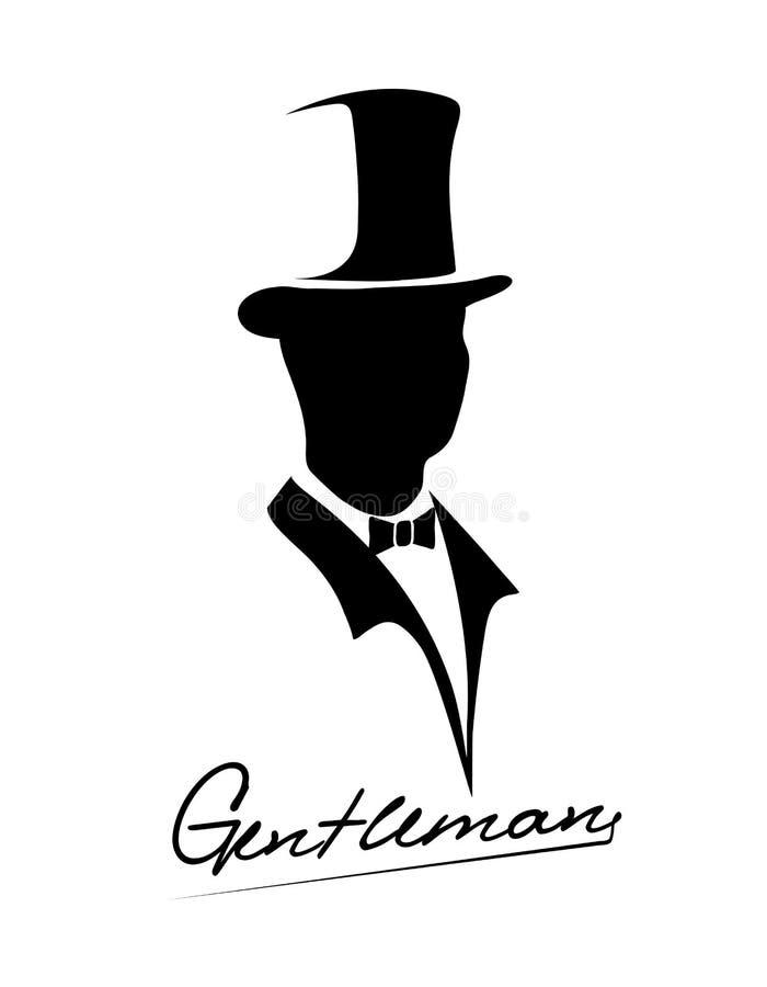Ícone do cavalheiro ilustração royalty free