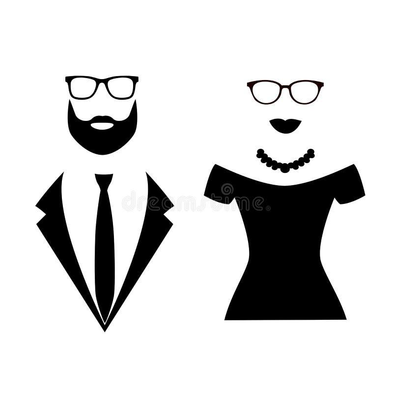 Ícone do cavalheiro e da senhora ilustração stock