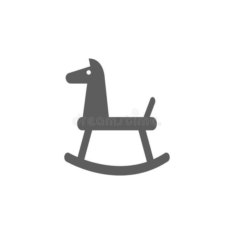 ícone do cavalo do balanço Elemento dos brinquedos para apps móveis do conceito e da Web Ícone para o projeto do Web site e o des ilustração royalty free