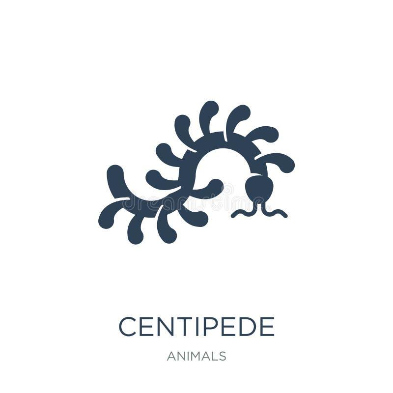 ícone do centípede no estilo na moda do projeto ícone do centípede isolado no fundo branco plano simples e moderno do ícone do ve ilustração do vetor