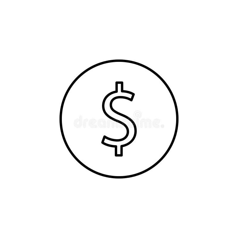 ícone do centavo Elemento do ícone simples para Web site, design web, app móvel, gráficos da informação Linha fina ícone para o p ilustração do vetor
