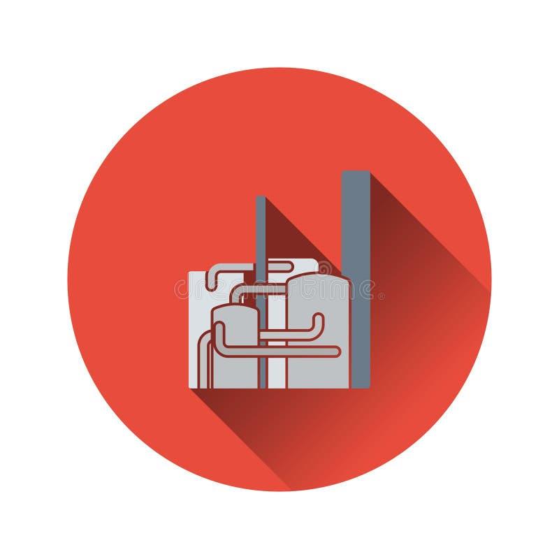 Ícone do central química ilustração do vetor