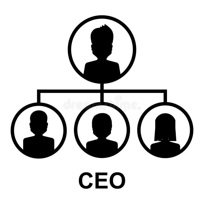 Ícone do CEO ilustração do vetor