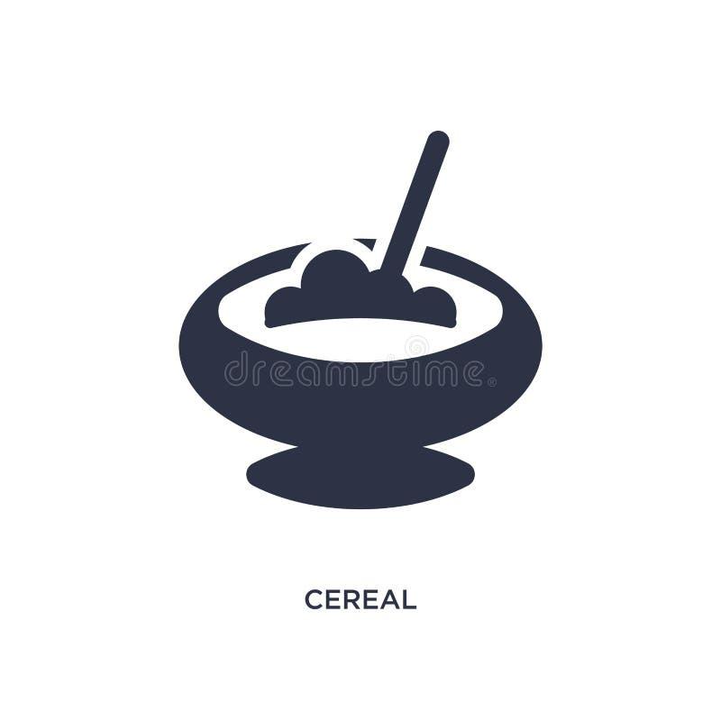 ícone do cereal no fundo branco Ilustração simples do elemento do conceito do fast food ilustração do vetor