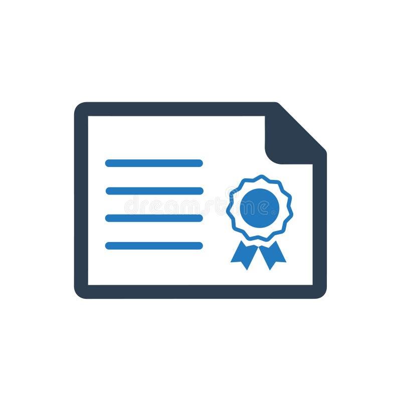 Ícone do certificado da garantia ilustração royalty free