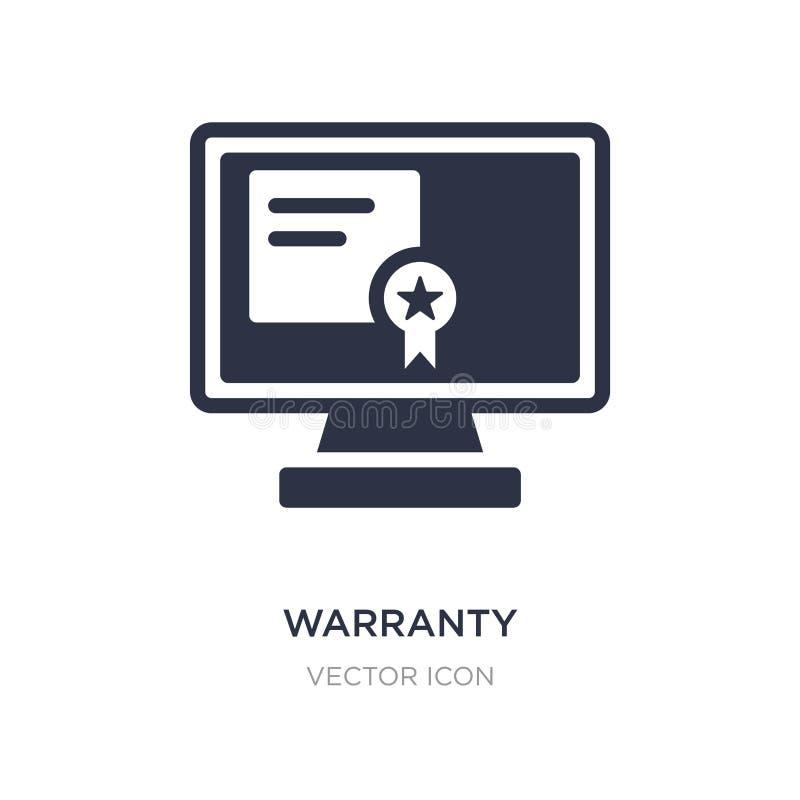 ícone do certificado de garantia no fundo branco Ilustração simples do elemento do conceito da tecnologia ilustração do vetor