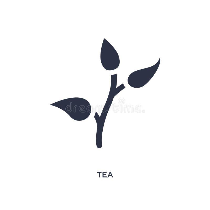 ícone do chá no fundo branco Ilustração simples do elemento do conceito da natureza ilustração do vetor