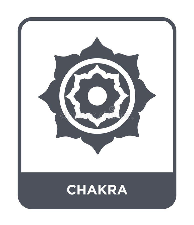 ícone do chakra no estilo na moda do projeto ícone do chakra isolado no fundo branco símbolo liso simples e moderno do ícone do v ilustração stock