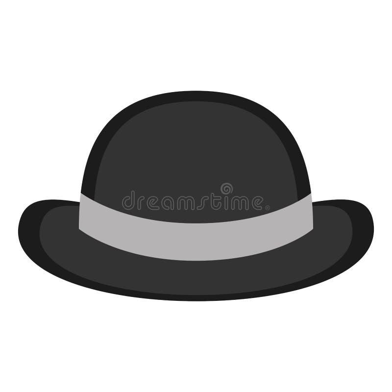 Ícone do chapéu do cavalheiro ilustração stock