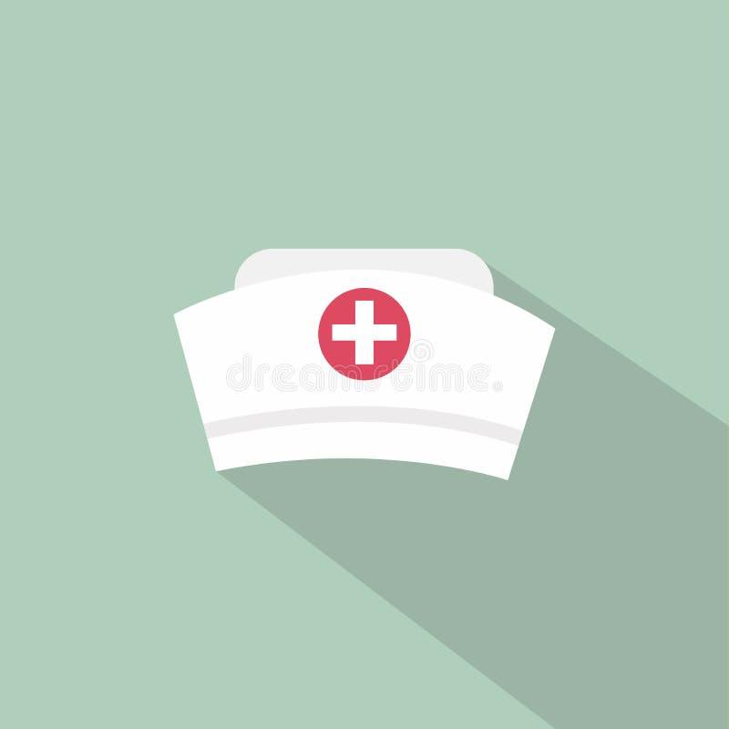 Ícone do chapéu da enfermeira ilustração stock